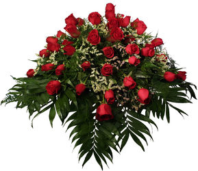 Red Rose Casket Spray In Louisville, KY, In Kentucky, Schmitt's Florist