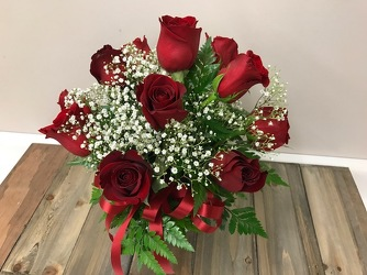 Dozen Red Roses Arranged in Ivy Bowl In Louisville, KY, In Kentucky, Schmitt's Florist