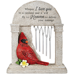 """Heaven"" Cardinal Memorial Garden Chime In Louisville, KY, In Kentucky, Schmitt's Florist"