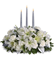 Silver Elegance Centerpiece In Louisville, KY, In Kentucky, Schmitt's Florist