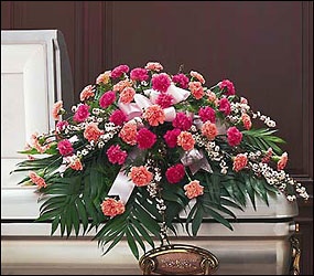 Delicate Pink Casket Spray In Louisville, KY, In Kentucky, Schmitt's Florist